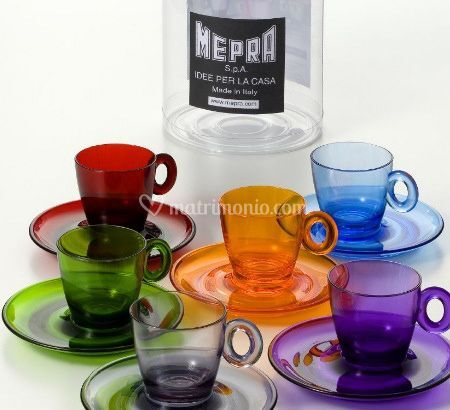 Set Tazzine Caffè Policarbonato Mepra
