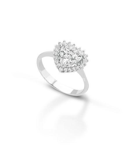 Solitario diamante a cuore