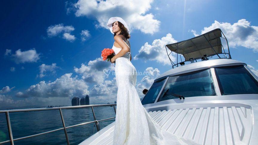Matrimonio in barca