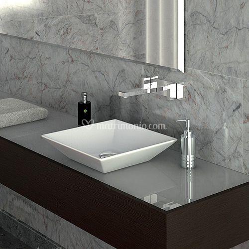 Lavabo appoggio pitagora 36 5 di jo bagno sanitari e arredo foto 113 - Arredo bagno civita castellana ...