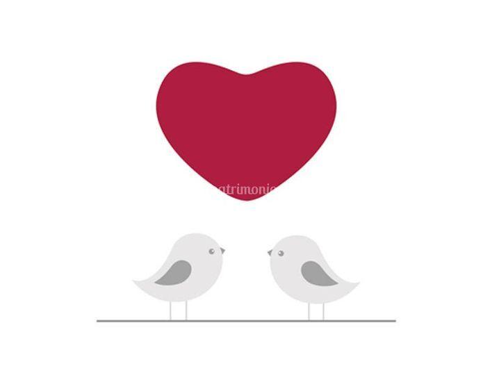 Partecipazioni di nozze piccioncini