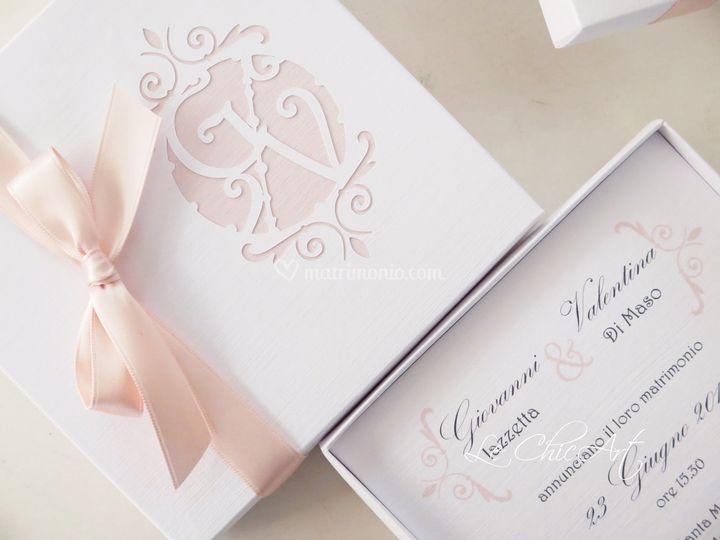 Wedding box intaglio retrò