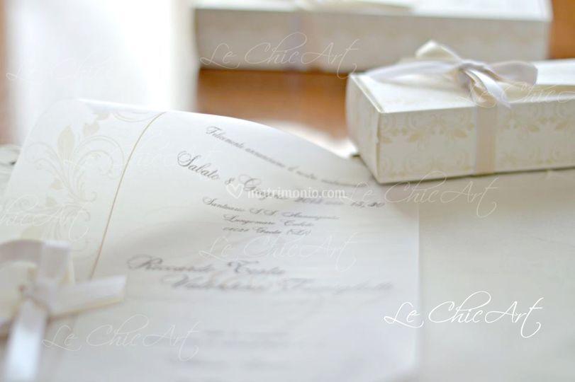 Pergamena Matrimonio Simbolico : Le chicart