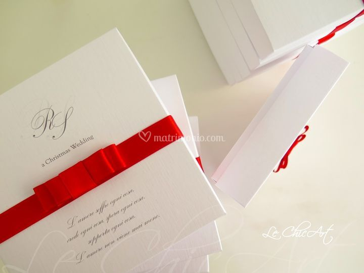 Wedding box con fiocco piano