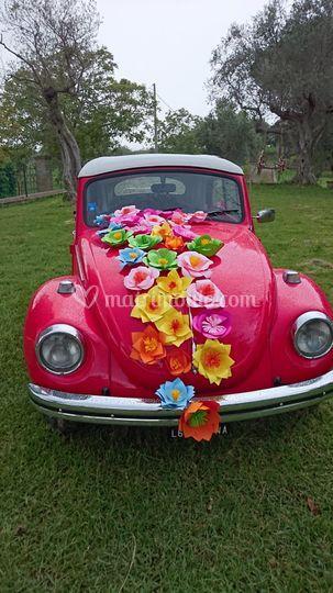 Decorazione auto per gli sposi