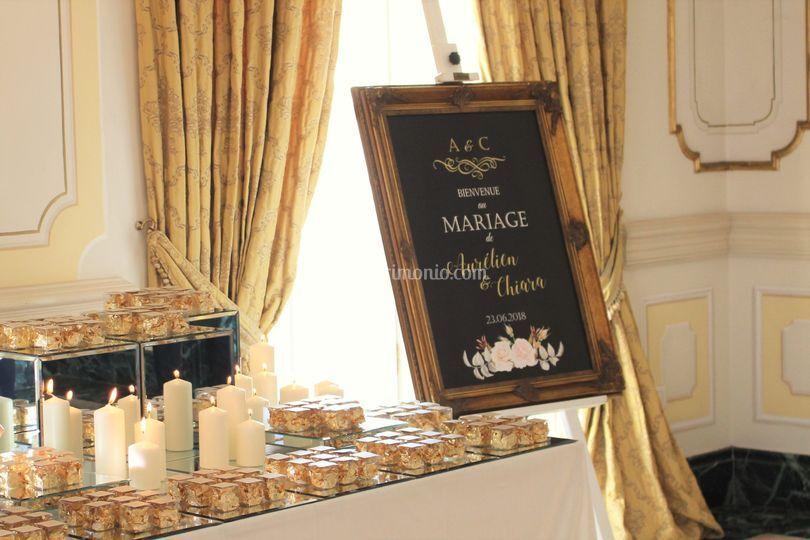 Gold Table Plan in Villa Miani