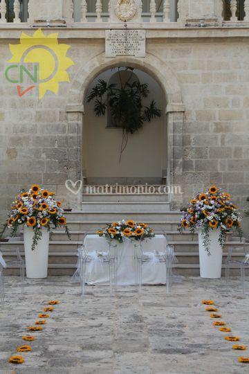 Matrimonio civile con Girasoli