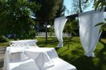 Dettaglio buffet in giardino di Villa C� Bianca
