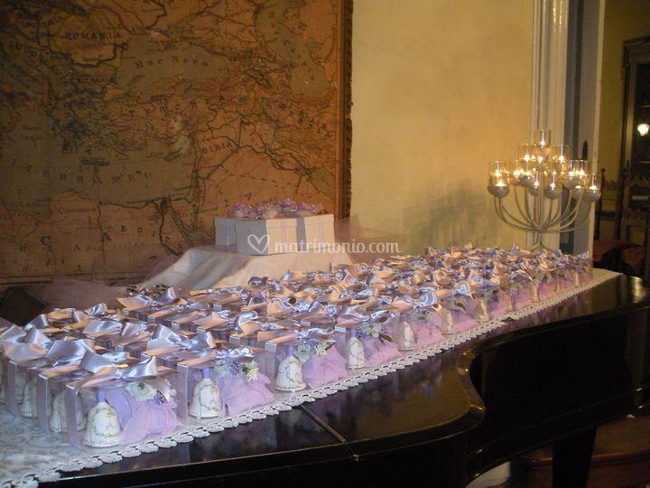 Le bomboniere sul pianoforte