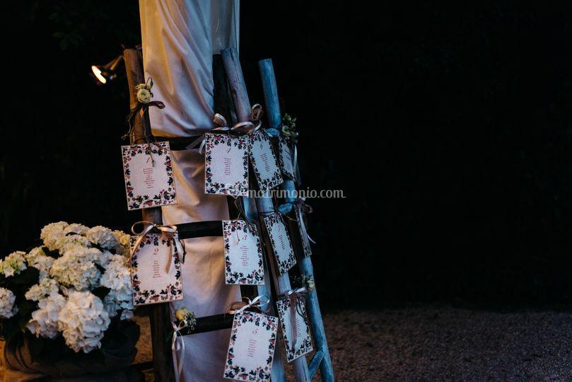Tableau mariage rustico