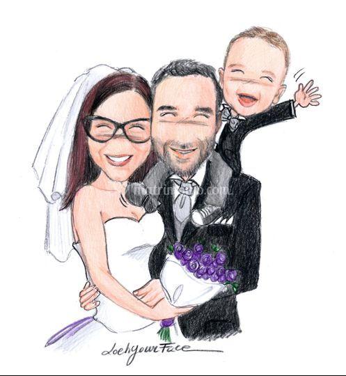 Sposi con figlioletto