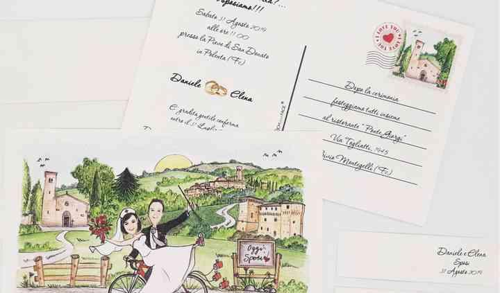 Pacchetto Invito cartolina