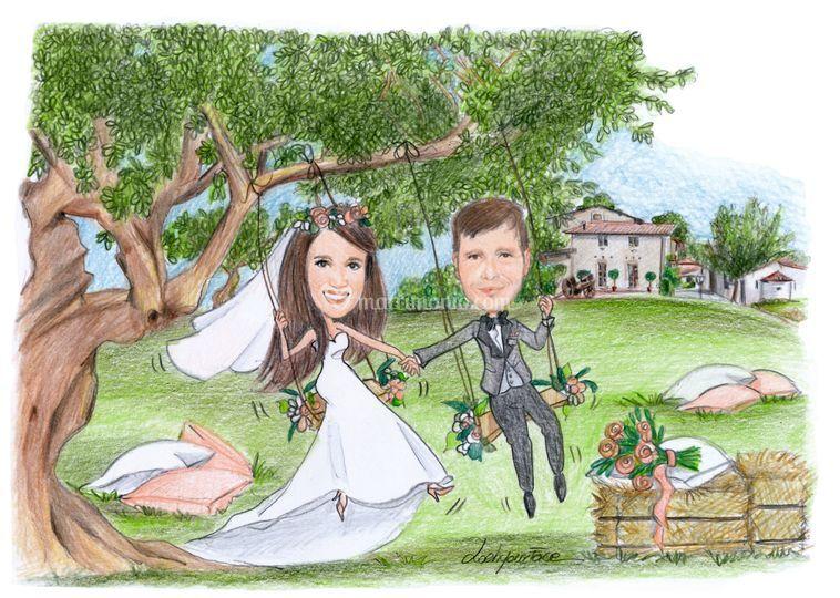 Sposi in altalena
