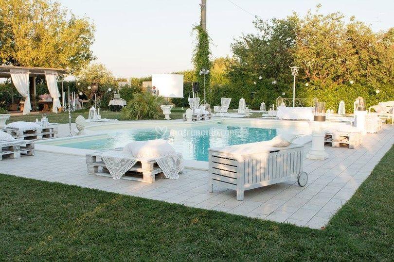 Giardino con piscina