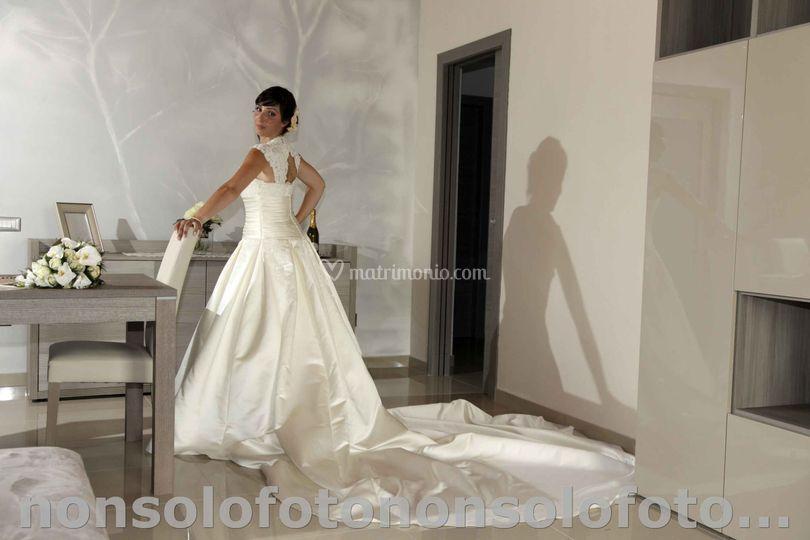 La sposa nella sua nuova casa.