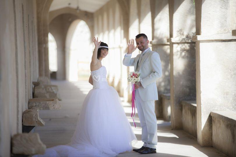 Partenza per viaggio di nozze!