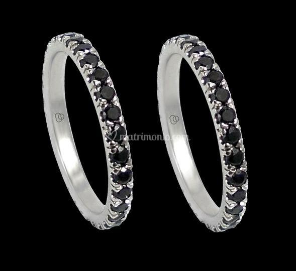 Fedi nuziali diamanti neri