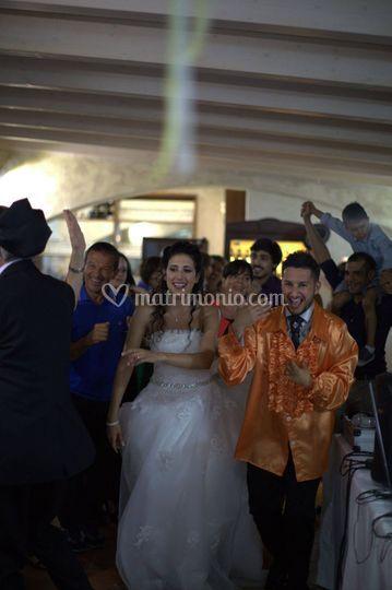 Gli sposi in azione