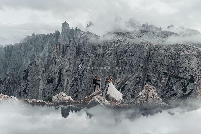 Matrimonio nelle Alpi