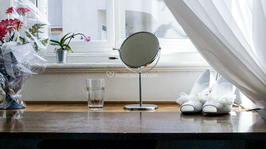 Le scarpe e lo specchio
