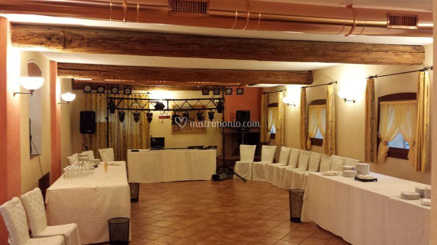 La sala da ballo e open bar