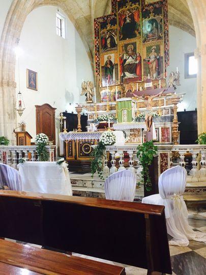 Addobbo altare completo