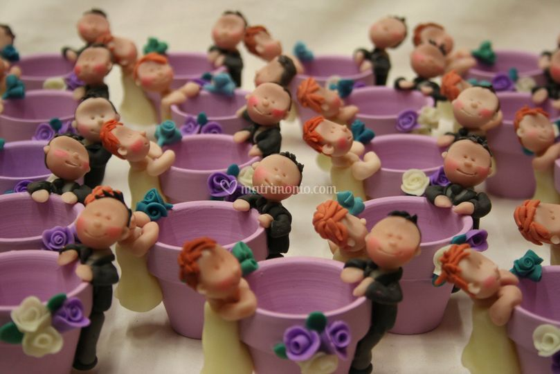 Bomboniere vasetto con sposi