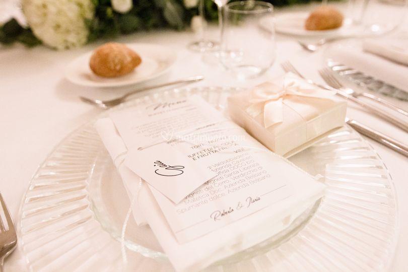 Wedding stationery - menù