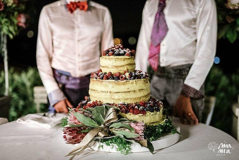 Wedding cake: torta nuda M&M
