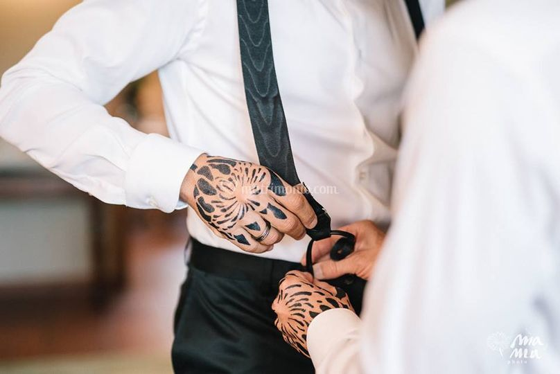 Vestizione: dettaglio protea