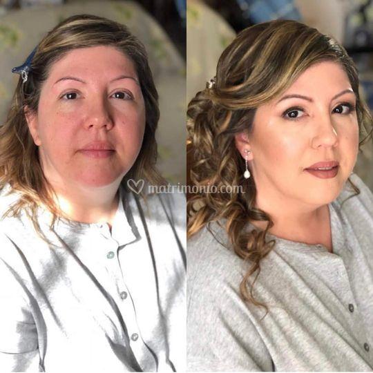 Prima & dopo makeup sposa