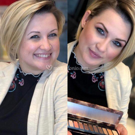 Prima & dopo makeup invitata