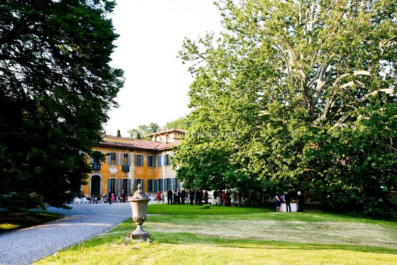 Fronte della villa