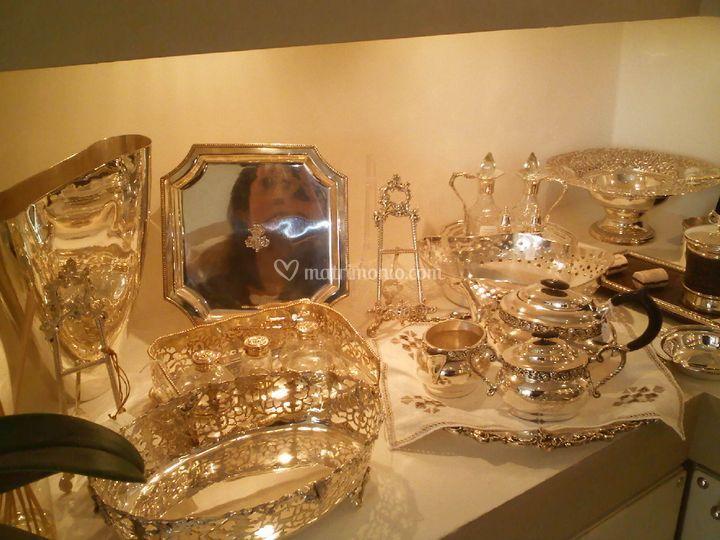 Vassoi argento e Schieffield