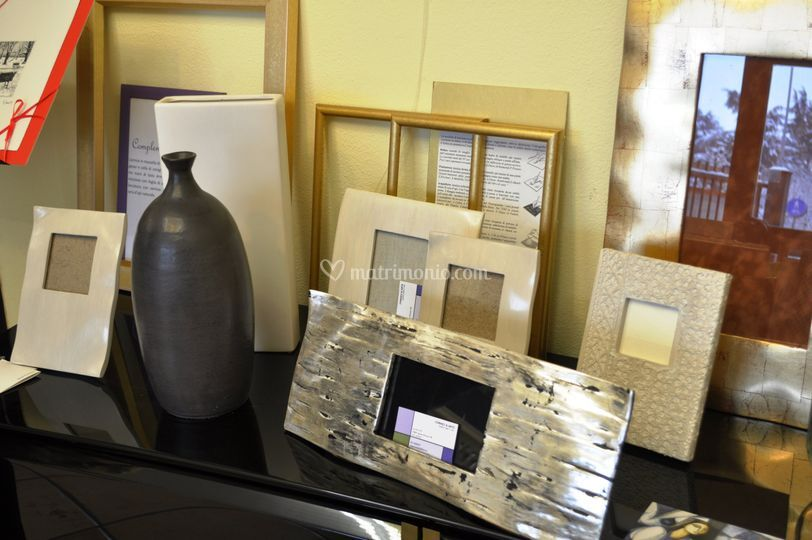 Portafoto in foglia argento