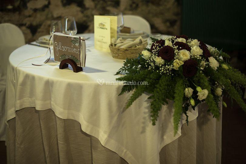 Tavolo sposi di agriturismo case perrotta foto 15 - Tavolo matrimonio casa sposa ...