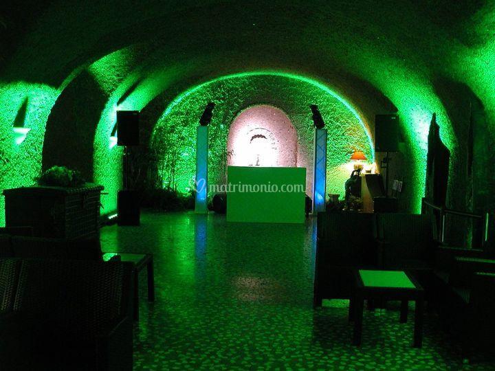 Illuminazione zona dance