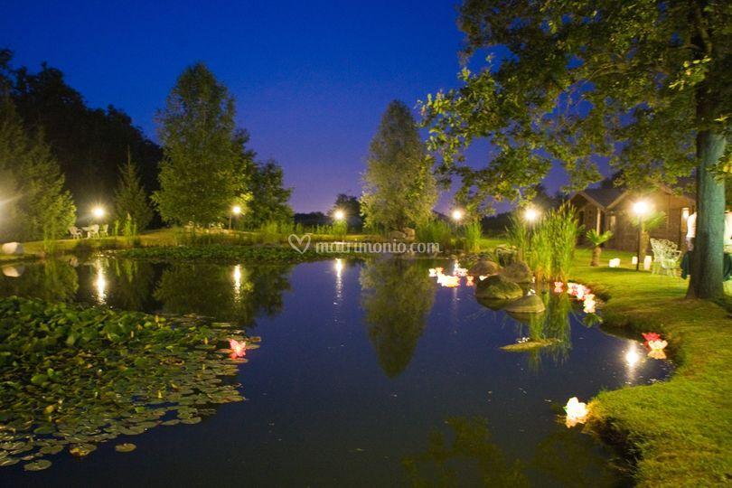 Lago illuminato