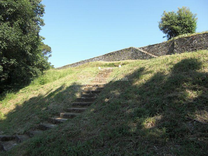 Mura perimetrali della Villa
