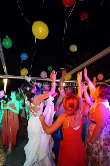 palloncini luminosi in volata