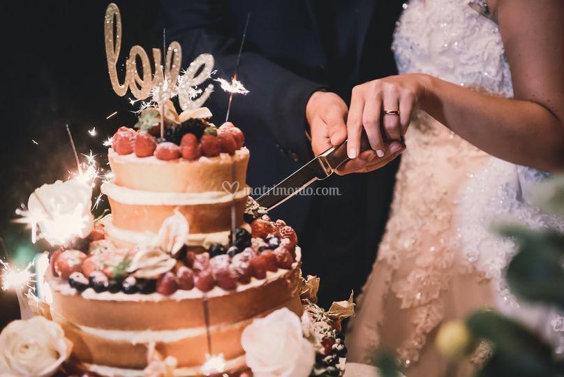 Taglio torta scenografico