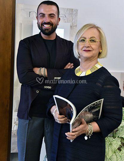 La signora Tina e Antonio