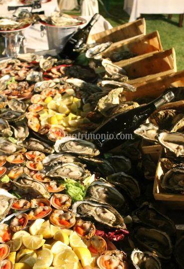 Buffet di pesce fresco