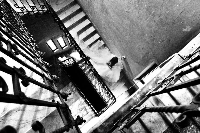 Le scale della torretta