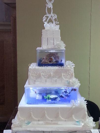 La torta acquario