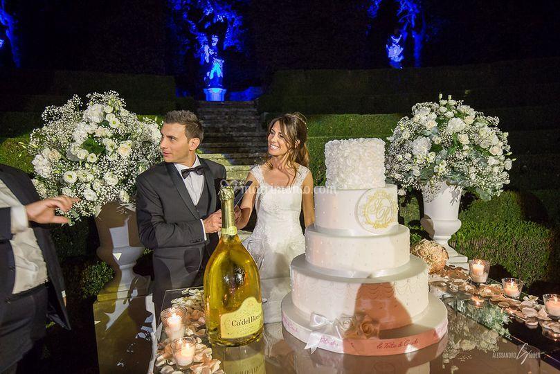 Wedding cake con logo