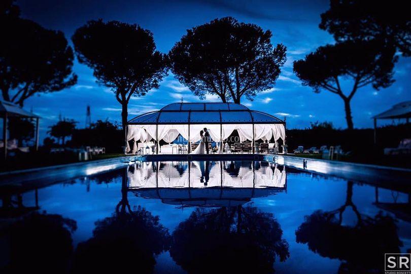 La piscina di Villa Fonte Nuova