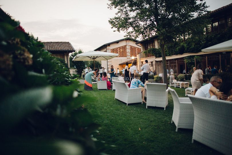 Portico e giardino aperitivo