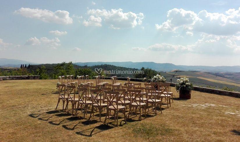 Aia panoramica per cerimonia