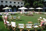 Allestimento giardino antistante villa di Villa Gallici Deciani